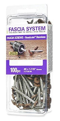 Deckfast Fascia Screws 64 Sand 9 x 1-7/8