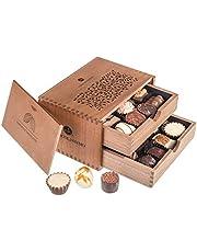 ChocoRoyal Midi - 20 exclusieve handgemaakte pralines | Geschenk in een houten kistje | Chocolade | Cadeau | Verjaardag | Volwassenen | Vrouw | Man | Papa | Mama | Ouders | Moederdag | Vaderdag | Kerstmis