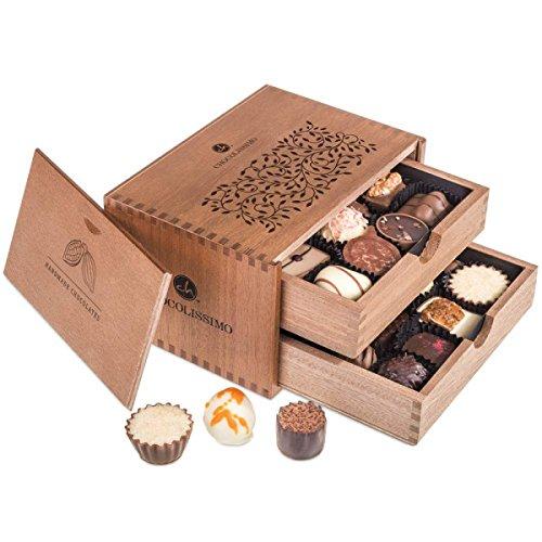 ChocoRoyal Midi – 20 exclusieve handgemaakte pralines   Geschenk in een houten kistje   Chocolade   Cadeau   Verjaardag…