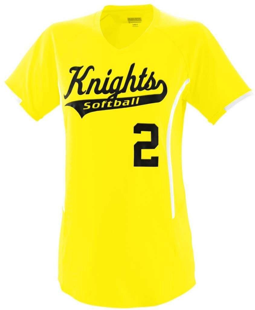 Augusta Sportswearレディース熱ジャージー B00IWLRGMY xx-large|Power Yellow/White Power Yellow/White xx-large