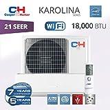 Cooper & Hunter Karolina Wi-Fi Energy Star Ductless Mini Split Air Conditioner up to 27 SEER (18,000 BTU, 230V)