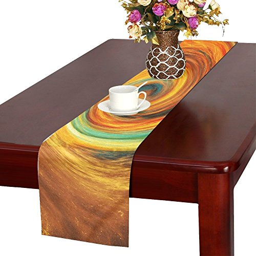 QYUESHANG Spiral Universe Space Creation Faith Development Table Runner, Kitchen Dining Table Runner 16 X 72 Inch For Dinner Parties, Events, Decor by QYUESHANG