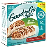 South Beach Diet Good To Go Bars, Extra Protein, Iced Cinnamon Pecan, 1.34 Ounce, 5 Count (Pack of 8)