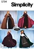 Simplicity Sewing Pattern 5794 Misses Costumes, A (XS-S-M-L)