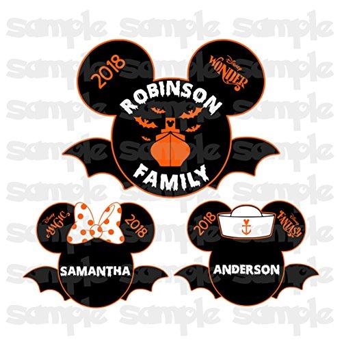 LARGE Halloween Bat Mouse Head | Halloween on the High Seas | Halloween Disney Cruise Magnet | Halloween Bat Mouse Head | Family Magnet For Cruise Door -