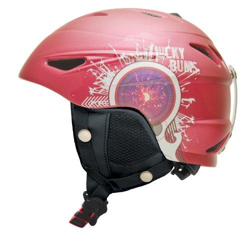 Lucky Bums Alpine Series Firecracker Helmet, Raspberry, Large - Lucky Bums Snowboard Helmet