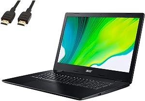 2021 Acer Aspire 3 Laptop 17.3'' HD Screen, 10th Generation Intel Core i5-1035G1 Processor, 12GB RAM, 512GB SSD, Intel UHD Graphics, Windows 10, HDMI, Wi-Fi, Webcam, RJ-45, VATTE HDMI Cabel
