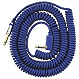 VOX VCC090BL 29.5-Feet VCC Vintage Coiled Right Angle Stereo Guitar Instrument Cable, Blue