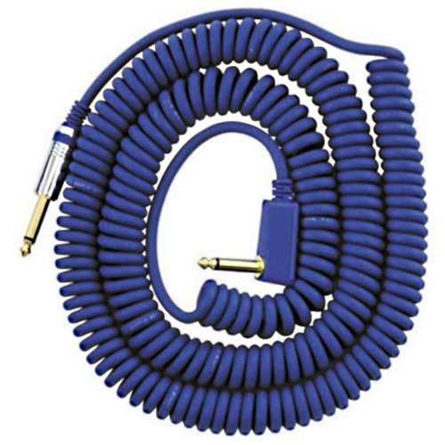 VOX VCC090 Blue Coiled 1/4'' Cable with Mesh Bag, 29.5' by Vox