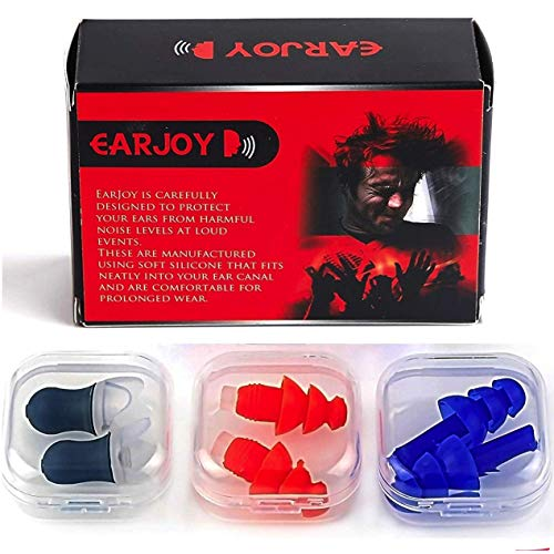 Noise Cancelling Ear Plugs by EarJoy - for Swimming Sleeping Musicians. Reusable. for...