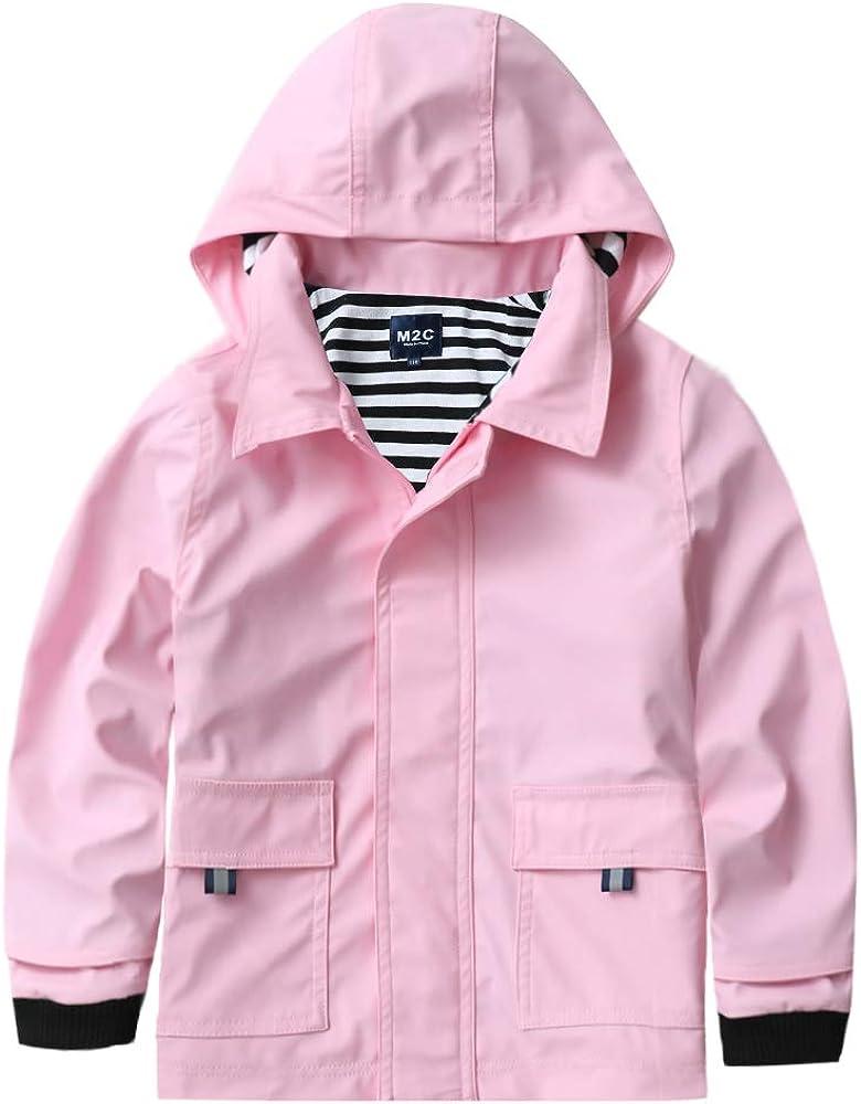 Children Kids Raincoat Jacket  Towel Lined NEON PINK  Size 10
