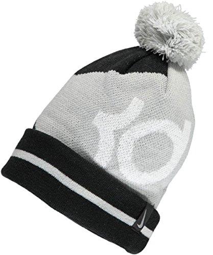 Nike Youths Kd Icon Grey Black Beanie Hat Size 8 20