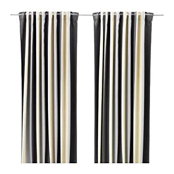 Amazon.de: Ikea Block-Out Vorhänge, 1 Paar, grau/beige 603.086.19