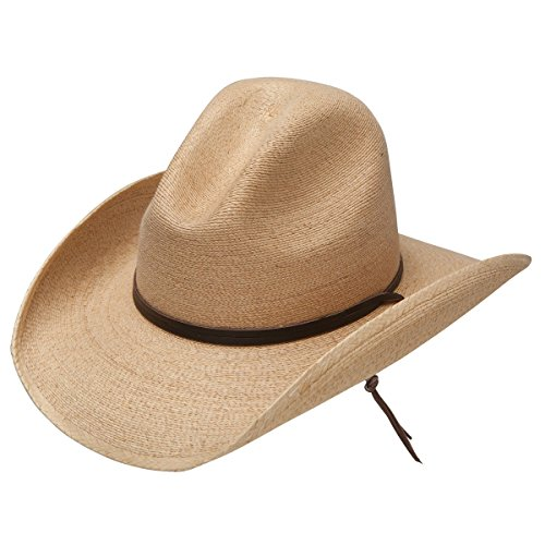 (Stetson Bryce - Mexican Palm Straw Cowboy Hat (X-Large))