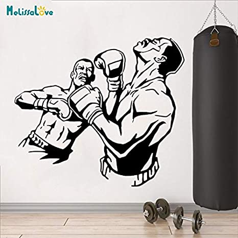 63x57 cm Tatuajes de Pared Moderno Boxeo Tailandés Luchador ...