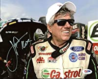 John Force NHRA Drag Racing Signed 8X10 Photo #AA20271 - PSA/DNA Certified - Autographed Extreme Sports Photos by Bell Sports Marketing