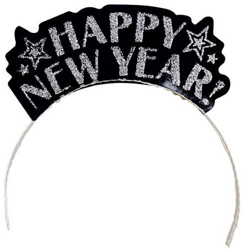 Happy New Year Glitter Assorted Tiaras (12 Pack)]()