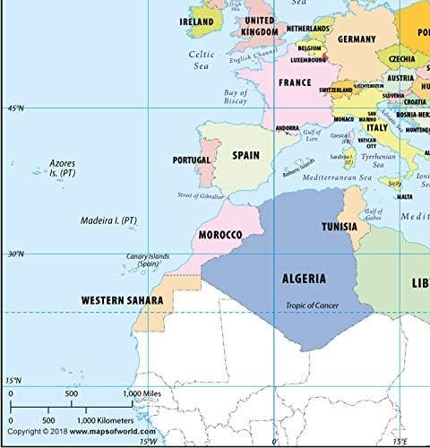 Cartina Europa E Medio Oriente.Carta Geografica Nord Africa E Medio Oriente