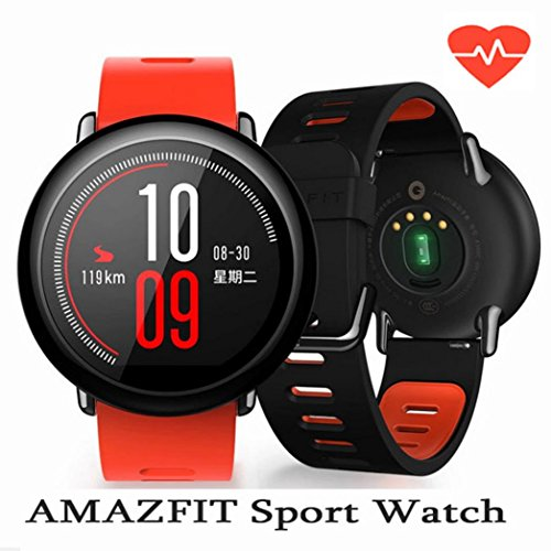 For Xiaomi Amazfit Pace GPS Running Sport Smartwatch Movement Record,Black/Red (Red) by Freshzone (Image #2)