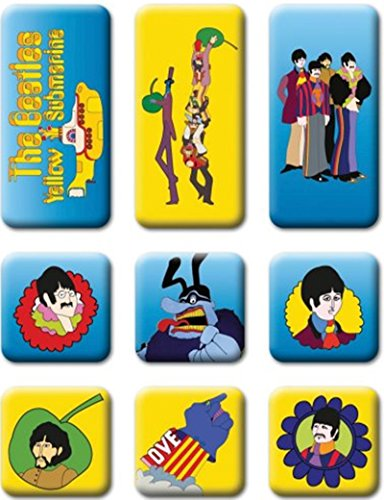 The Beatles - Yellow Submarine Magnet Set Beatles Yellow Submarine Magnet