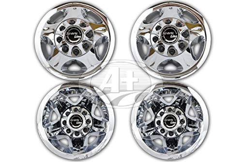 "17"" GMC Chevy Dually Wheel Rear Center Cap Chrome Plated for 2011~Current 3500"
