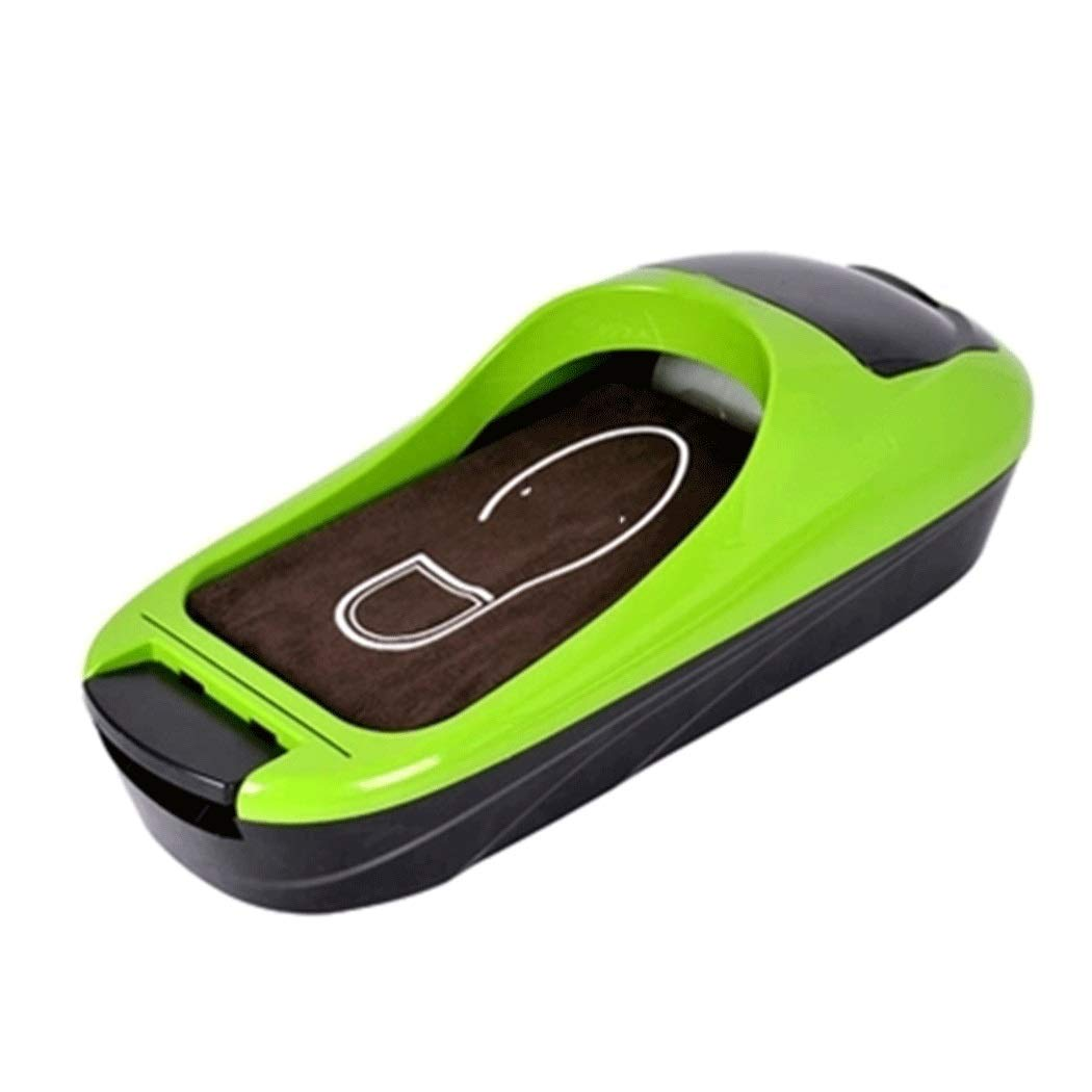 YUNHAO Household Shoe Film Machine Disposable Business Home Office ABS Anti-Skid Shoe Cover Machine 582610cm Shoe Cover (Color : Green, Size : 582610cm)