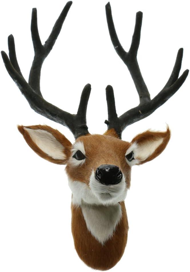 Deer Head Animals Wall Decor Creative Home Accessories Statues Sculptures
