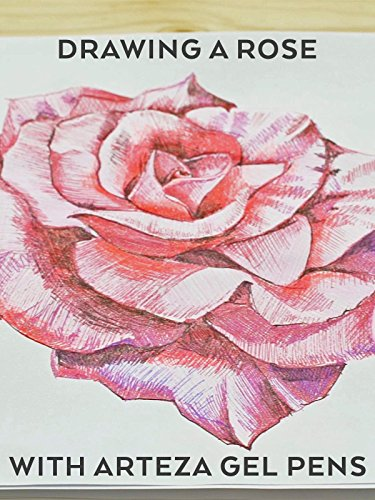 Review: Drawing a Rose With Arteza gel (Page Gels)