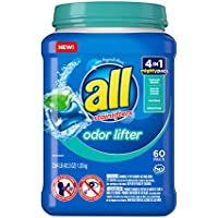 All Mighty Pacs 60 Count Laundry Detergent 4 in 1 with Odor Lifter