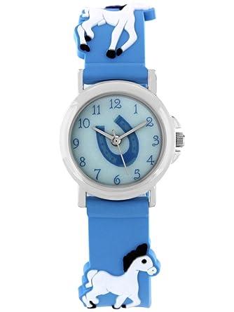 Armbanduhr kinder blau  Pacific Time Kinder-Armbanduhr Pferde Armbanduhr Kinder Mädchen ...