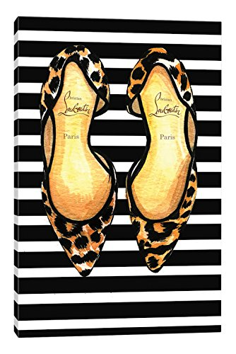 iCanvasART Christian Louboutin and Stripes Canvas Print, 40'' x 0.75'' x 26'' by iCanvasART