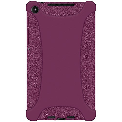 Amzer Silicone Jelly Soft Skin Fit Case Cover for Asus New Nexus 7/Google New Nexus 7, Purple (AMZ96133) (Case 7 Google Phone Nexus)