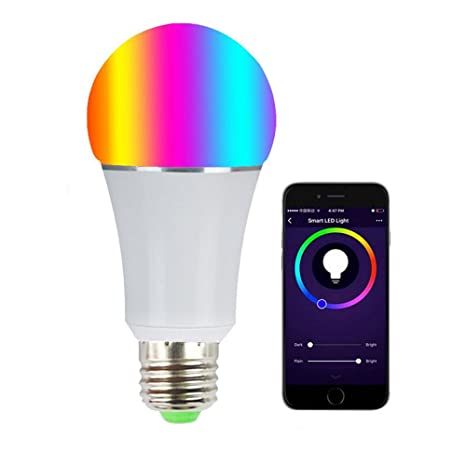 Bombilla LED inteligente, bombillas inteligentes Wi-Fi 6000K Color regulable Cambio de la luz