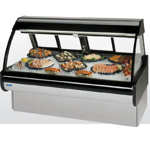 Federal Industries MCG-1054-DF Curved Glass Refrigerated Seafood & Fish Maxi (Display Case Maxi)