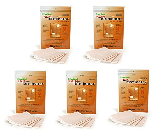 Golden Sunshine - Pain Terminator Far Infrared Patch - 5 Pack by Golden Sunshine