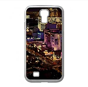 Las Vegas Strip Watercolor style Cover Samsung Galaxy S4 I9500 Case (Nevada Watercolor style Cover Samsung Galaxy S4 I9500 Case)