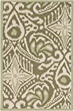 Surya Kate Spain MRS2007-3353 Hand Woven Casual Accent Rug, 3-Feet 3-Inch by 5-Feet 3-Inch, Olive/Ivory/Sea Foam