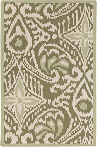 Surya Kate Spain MRS2007-3353 Hand Woven Casual Accent Rug, 3-Feet 3-Inch by 5-Feet 3-Inch, Olive/Ivory/Sea Foam by Surya