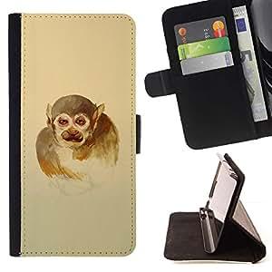 Momo Phone Case / Flip Funda de Cuero Case Cover - Monkey Man;;;;;;;; - Samsung Galaxy J1 J100