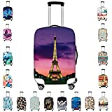 Bigcardesigns Women Ladies Fashion Travel Luggage Peotector Covers Elastic Spandex Suitcase Dust-proof Case Large Size for 26-30 inch Luggage
