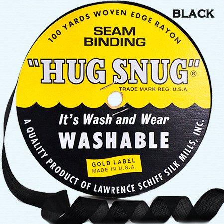 Craft Seam Binding - Hug Snug Seam Binding - Black