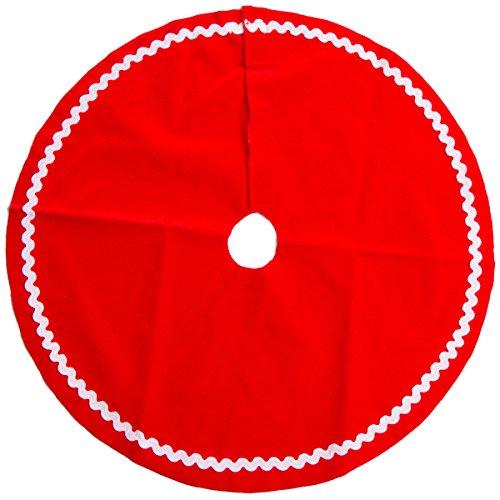 Darice Christmas Red Velvet Mini Tree Skirt (Mini Christmas Tree Skirts)