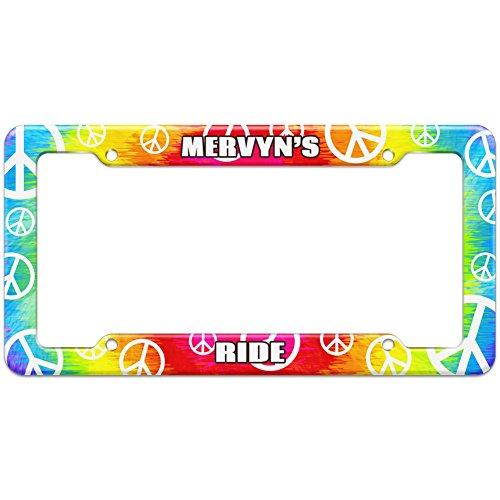 tie-dye-hippie-license-plate-frame-ride-names-male-mas-mi-mervyn