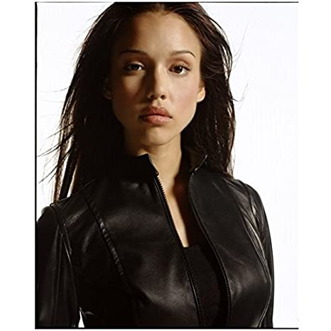 c8018b57b0 Jessica Alba 8 x 10 Photo Black Leather Jacket kn at Amazon's Entertainment  Collectibles Store