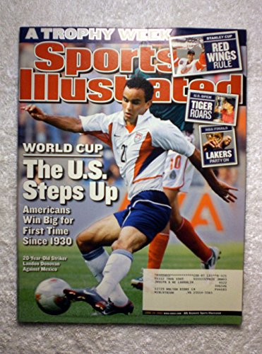 Landon Donovan - World Cup - Soccer - The U.S. Steps Up - Sports Illustrated - June 24, 2002 - Detroit Red Wings 2002 Stanley Cup Champions - Los Angeles Lakers 2002 NBA Champions - SI