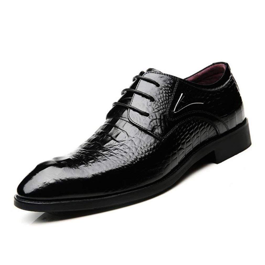 Herren Lederschuhe, Fashion Business Formale Kleid Schuhe, Frühling Herbst Spitz Schuhe, Eine Nacht auf die Party-Kleid Schuhe, Schwarz (Farbe   Schwarz, Größe   43) ( Farbe   Schwarz , Größe   43 )