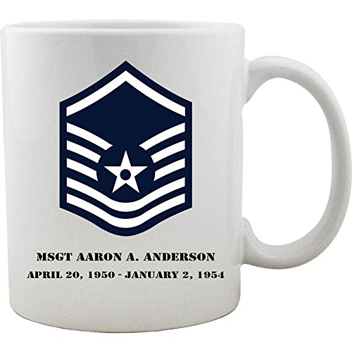 Customizable Air Force Master Sergeant Rank Coffee ()