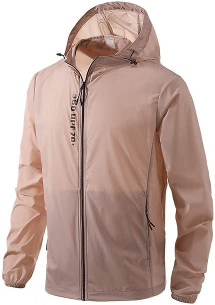 GCX- Chaqueta Transpirable Verano Piel Protector Solar Ropa de Hombre de Rompevientos la Camisa Ligera de protección Solar Ropa Genial (Color : Khaki, Size : M): Amazon.es: Hogar
