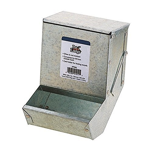 - Miller Manufacturing AF5ML Metal Rabbit Feeder, 5-Inch