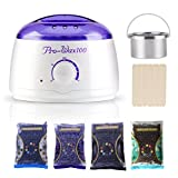 Hair Removal Wax Name - REBUNE Wax Warmer Rapid Melt Hair Removal Waxing Kit With 4 Different Flavors Hard Wax Beans And Wax Applicator Sticks 3.5 oz A Bag Of Wax Beans(Chamomile, Lavender,Nature,Chocolate)